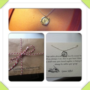 Look at my fab necklace from my friends for my 30th! My very own poem from The Ruby of Egypt - from Literary Emporium ...